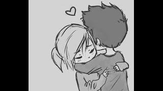 How to draw cute couple hug !