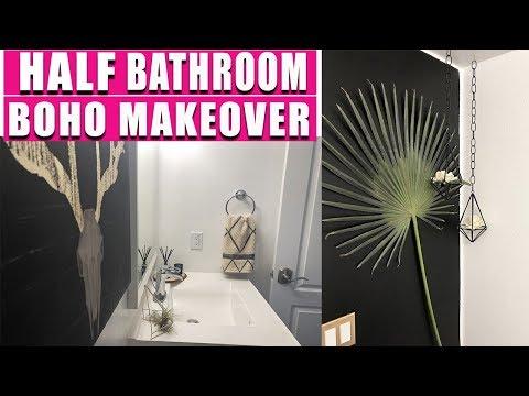 HALF BATHROOM MAKEOVER  - CHEAP & EASY!