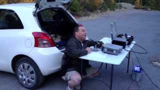 N6MKC transmitting  on portable rig, Siskiyou county west of Weed, California