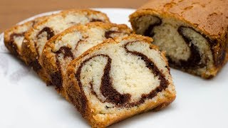 EGGLESS MARBLE CAKE RECIPE l MARBLE POUND CAKE WITHOUT OVEN