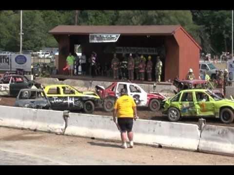 Mark vs The Wall - Otsego County Fair 2010 - Demolition Derby - Race #3 - Sunday, August 8th