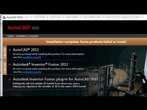 How to Fix Installation Failed Error on AutoCad 2012
