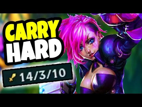 HOW DO YOU LOSE WITH A CHAMP LIKE THIS?? Vi Jungle HARD CARRY Gameplay - League of Legends