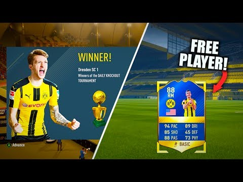 WINNING TOTS PULISIC!! FIFA 17 DAILY KNOCKOUT TOURNAMENT REWARD PLAYER!