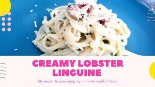 Creamy Lobster Linguine Pasta  Lobster Linguine  Easy &amp Tasty Method