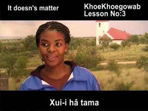 KhoeKhoegowab Lesson No:3