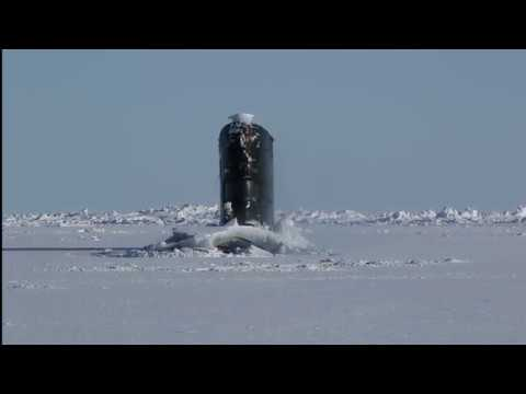 HMS Trenchant surfaces at the North Pole