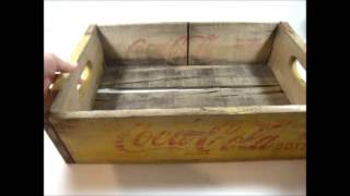 Vintage Advertising Wooden Coke Coca-cola Soda Bottle Crate