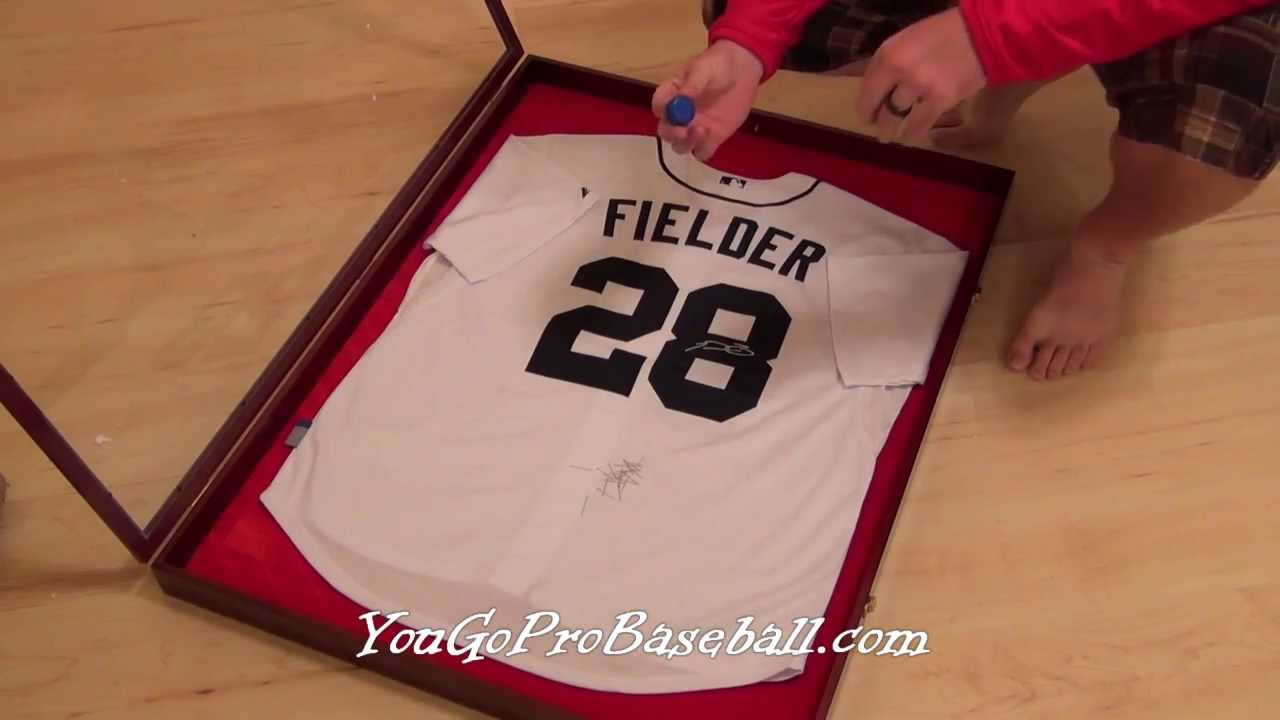 fb60fa82c How to frame a baseball jersey for a lot less money - YouTube