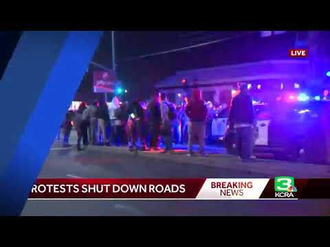Tensions rise during south Sacramento protest