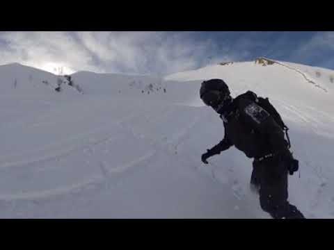 Freeride Snowboarding in Gudauri, Georgia (360 Video)