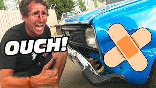 Car SMASHES Into Lynchy's Burnout MACHINE - O...