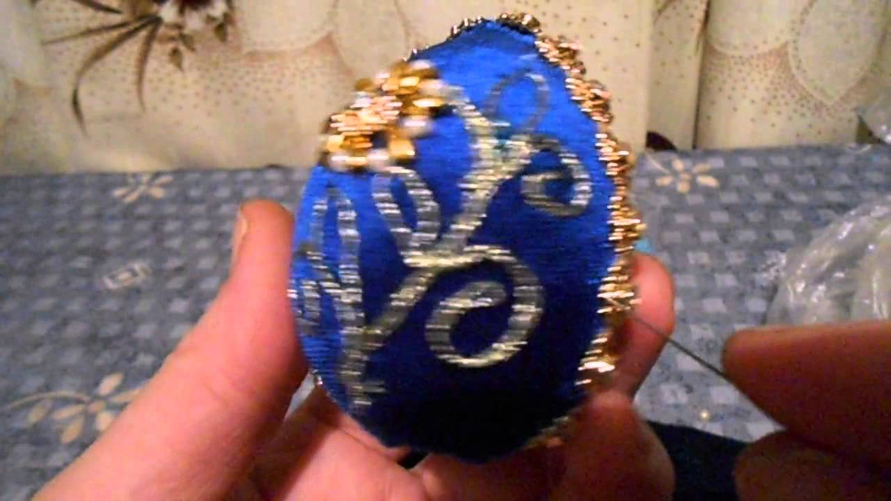 Пасхальное яйцо вышивка из бисера