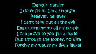 Migos -  Marshmello - Danger (Lyrics) Video