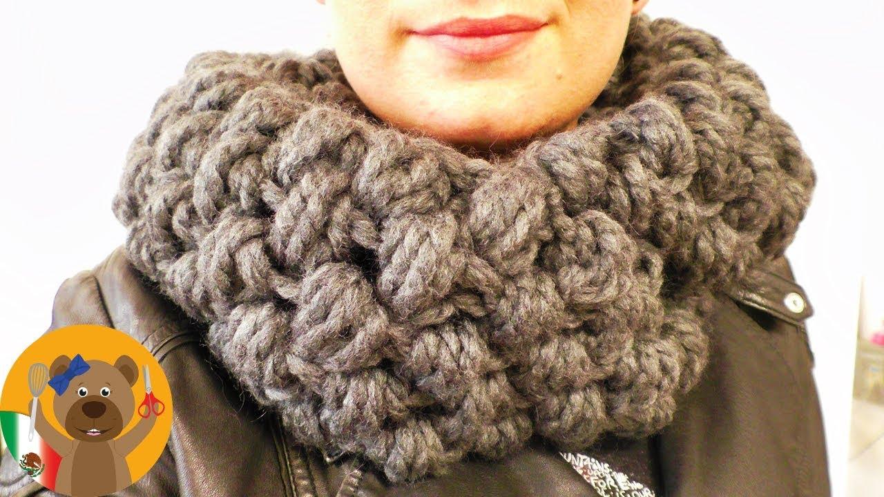 compras 100% de garantía de satisfacción tan baratas Teje una bufanda en punto burbuja XXL | Super abrigada para el invierno  |muy fácil y rápida