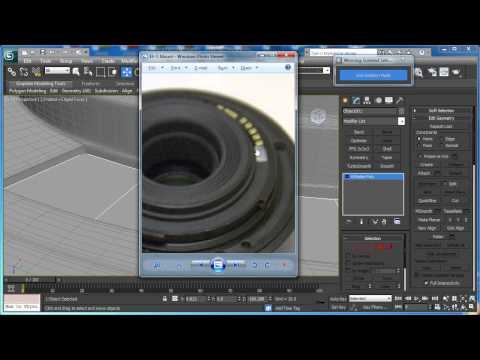 Tutorial: Model the Canon EF-S 55-250mm Zoom Lens in 3D Studio Max: Part 1