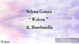 Selena  Gomez - Wolves ft.  Marshmello (lyrics)