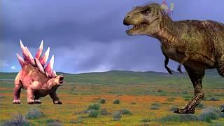 Тираннозавр против Стегозавров! Битва ДИНОЗАВРОВ! - Выбирай Приз!