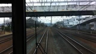 2014年1月26日、京都駅から新快速電車に乗って滋賀県草津方面へ行こうホ...
