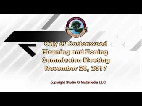 City of Cottonwood, Planning & Zoning Commission Regular Meeting Nov 20 2017