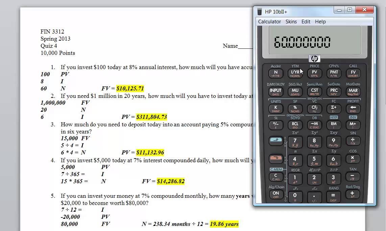 how to use hp 10b financial calculator