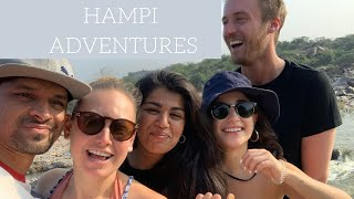 WE BORROWED PUPPIES FOR THE DAY IN HAMPI ^_^