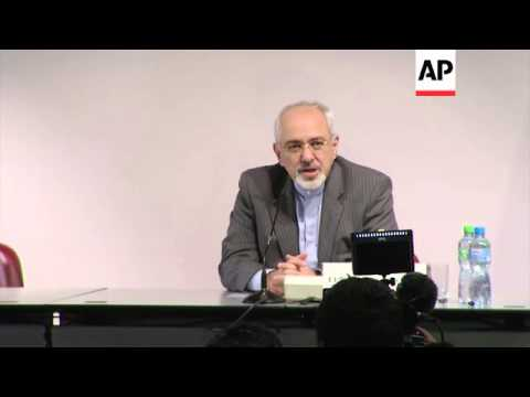 EU foreign policy chief Ashton and Iranian FM comment on nuclear talks