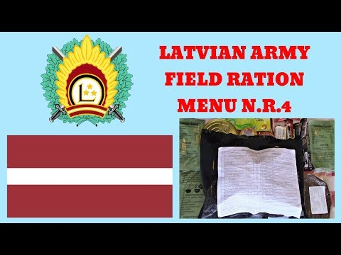 LATVIAN ARMY N.R.4 FIELD RATION