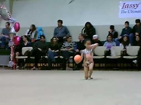 8 year old Jeslyn Chen Rhythmic Gymnastics Ball Gold Medalist 2012