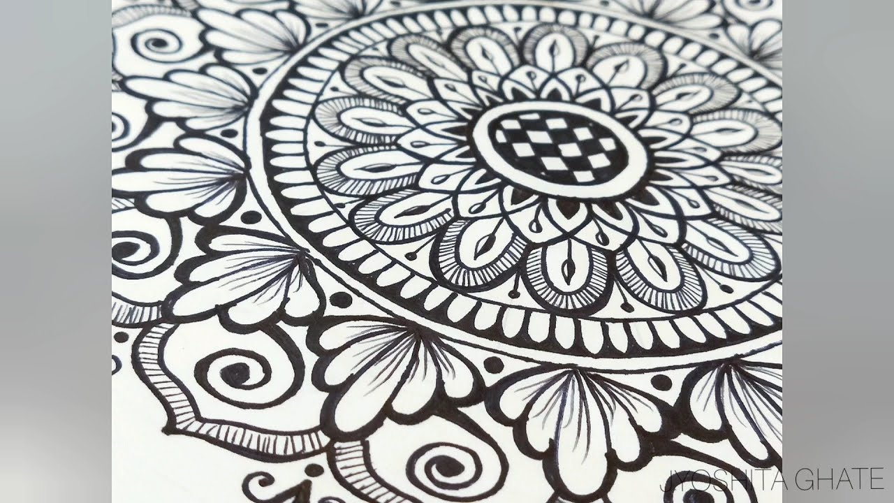 Very Easy Step By Step Mandala Design For Beginners Creative Mandala Art By Jyoshita Ghate Youtube