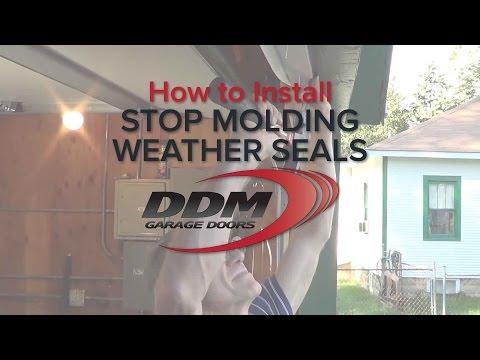 How to seal rodent proof garage door with the garage do for Garage door stop molding weather seal