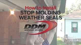 How To Install Pvc Stop Molding On A Garage Door