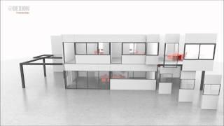 Dexion Mezzanine Partition Workarea Animation