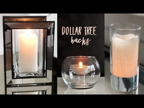 DIY Dollar Tree Candleholder Hacks  - Simple and Sleek!