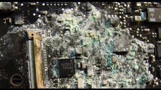 Ремонт залитого ноутбука. Восстановление после залития. Диагностика ноутбука.