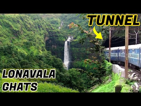 Lonavala Ghats View From Train While Travelling From Mumbai To Pune On Hyderabad Express