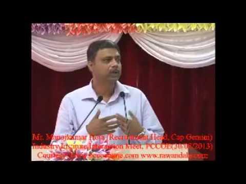 Mr Manojkumar Hota, Head, Campus Recruitment, Cap Gemini www.rawandale.com
