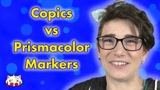 Copics vs Prismacolor Markers!