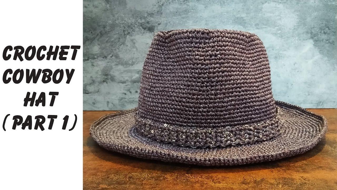 cowboy hat crochet sombrero vaquero pattern # 21