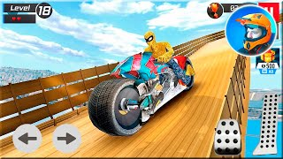 Moto Spider Vertical Ramp: Jump Bike Ramp Games Android Gameplay