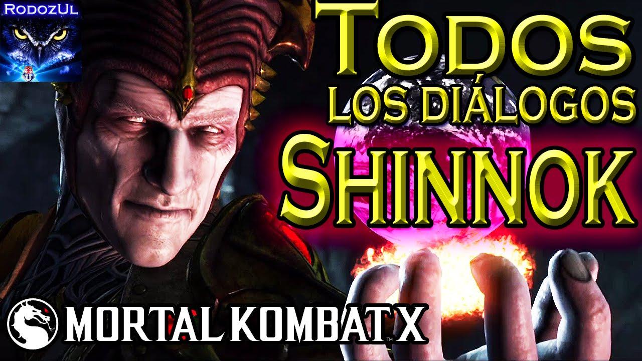 Todos los diálogos de Shinnok en Mortal Kombat X: El Dios Antiguo caído ha vuelto (Español Latino)
