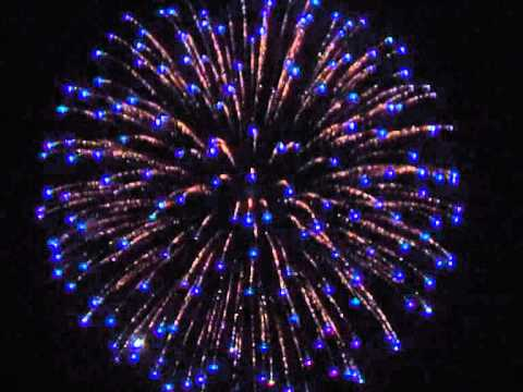 Firework Shell - Silver Wave to Blue Tips & Purple to ...