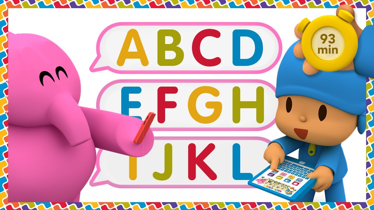 💡 POCOYO AND NINA - Learning First Words [93 min] | ANIMATED CARTOON for Children | FULL episodes