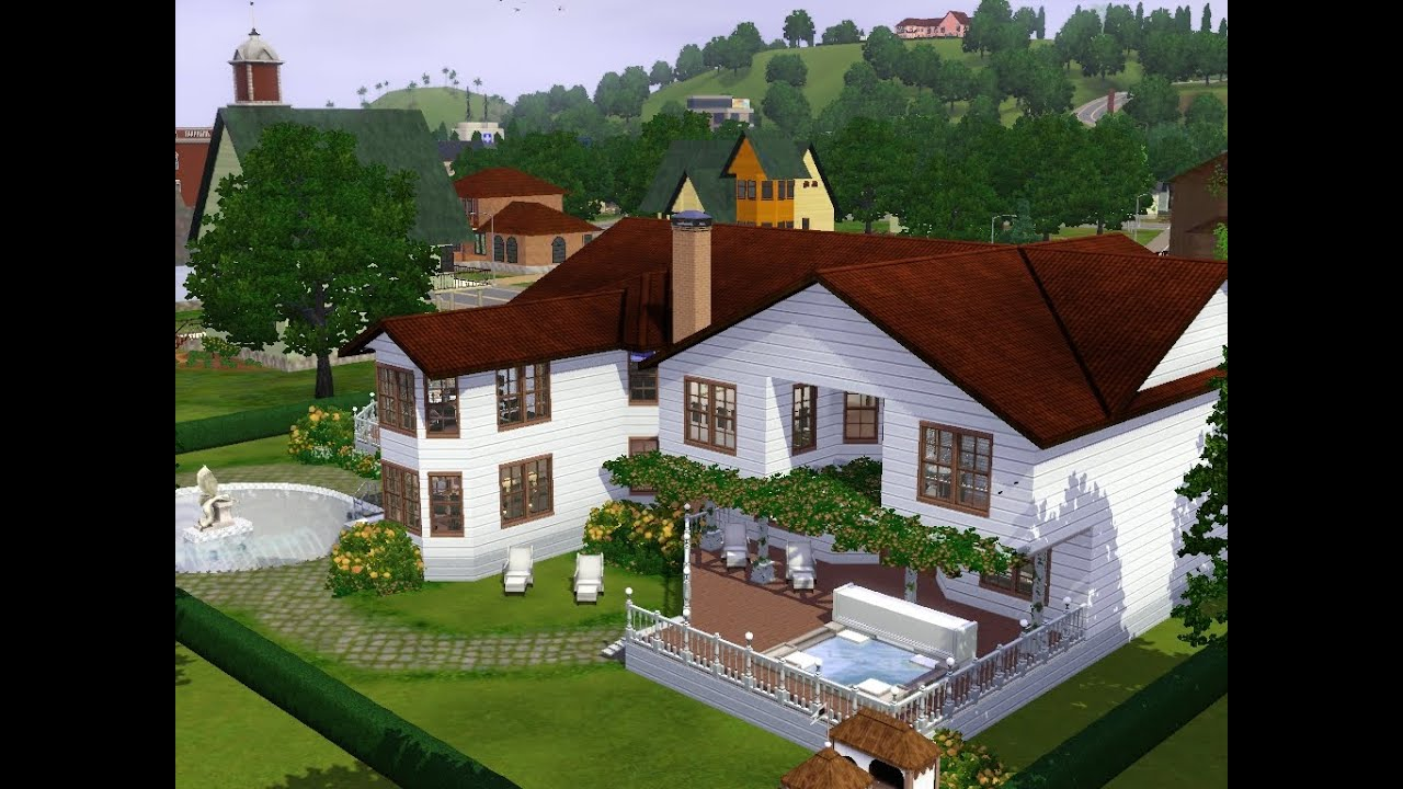 Sims 3 haus bauen let 39 s build haus im landhausstil for Moderner landhausstil haus