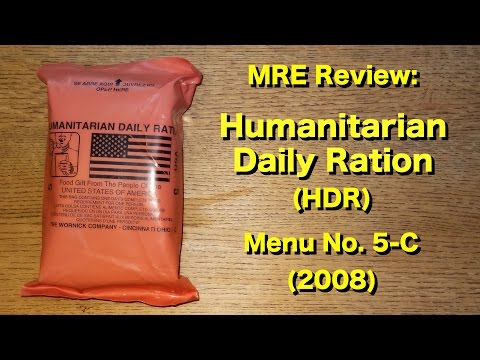 MRE Review: Humanitarian Daily Ration (HDR) Menu No 5-C (200