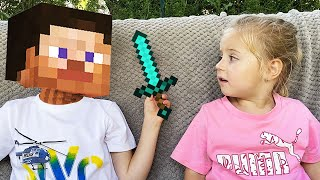 Thomas and Minecraft story with Elis and Steve