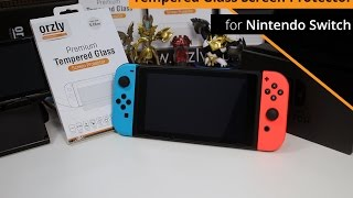 Orzly - Tempered Glass Screen Protector for Nintendo Switch