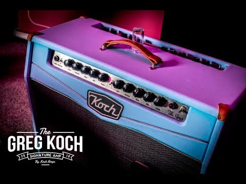 """Greg Koch 2017 Clinic with """"The Greg"""" signature amp at the Koch headquarters."""