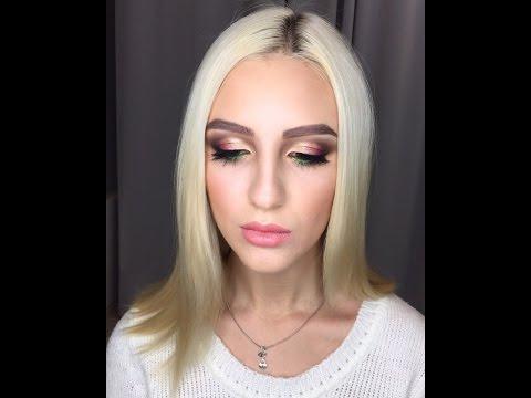 Вечерний макияж для карих глаз. Макияж на Новый год. Макияж с перламутрами. Макияж для блондинок.