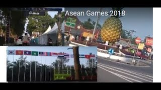 Review Jalur Balap Sepedah ke FINISH  Asian Games 2018 Review Bike Race Track